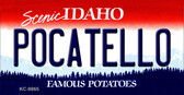 Pocatello Idaho State Background Metal Novelty Key Chain