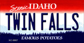 Twin Falls Idaho State Background Metal Novelty Key Chain