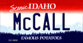 McCall Idaho State Background Metal Novelty Key Chain