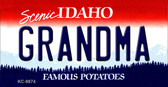 Grandma Idaho State Background Metal Novelty Key Chain
