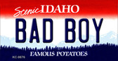 Bad Boy Idaho State Background Metal Novelty Key Chain