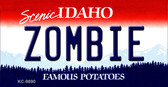 Zombie Idaho State Background Metal Novelty Key Chain