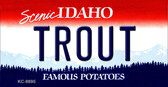 Trout Idaho State Background Wholesale Metal Novelty Key Chain