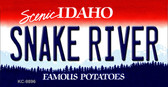 Snake River Idaho State Background Wholesale Metal Novelty Key Chain