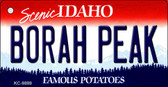 Borah Peak Idaho State Background Wholesale Metal Novelty Key Chain
