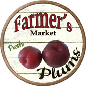 Farmers Market Plum Novelty Metal Circular Sign