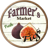 Farmers Market Figs Novelty Metal Circular Sign C-757