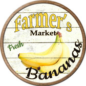 Farmers Market Bananas Novelty Metal Circular Sign