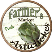 Farmers Market Artichokes Novelty Metal Circular Sign