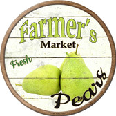 Farmers Market Pears Novelty Metal Circular Sign