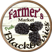 Farmers Market Black Berries Novelty Metal Circular Sign