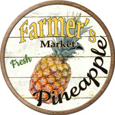 Farmers Market Pineapple Novelty Metal Circular Sign