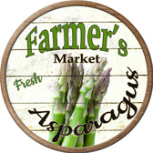 Farmers Market Asparagus Novelty Metal Circular Sign C-771