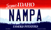 Nampa Idaho State Background Metal Novelty Magnet