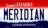Meridian Idaho State Background Metal Novelty Magnet