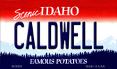Caldwell Idaho State Background Metal Novelty Magnet