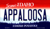 Appaloosa Idaho State Background Metal Novelty Magnet