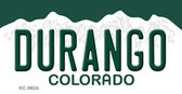 Durango Colorado Background Metal Novelty Key Chain
