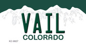 Vail Colorado Background Metal Novelty Key Chain