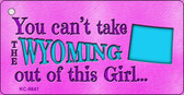 Wyoming Girl Novelty Metal Key Chain