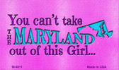 Maryland Girl Novelty Metal Magnet