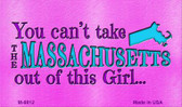 Massachusetts Girl Novelty Metal Magnet