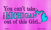 Michigan Girl Novelty Metal Magnet