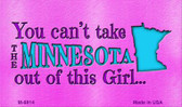 Minnesota Girl Novelty Metal Magnet