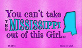 Mississippi Girl Novelty Metal Magnet