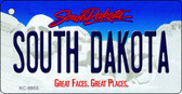 South Dakota Background Metal Novelty Key Chain
