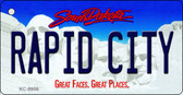 Rapid City South Dakota Background Metal Novelty Key Chain