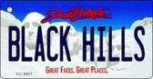 Black Hills South Dakota Background Metal Novelty Key Chain