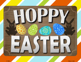 Hoppy Easter Metal Novelty Parking Sign