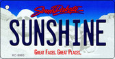 Sunshine South Dakota Background Metal Novelty Key Chain