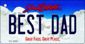 Best Dad South Dakota Background Metal Novelty Key Chain