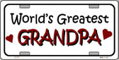 World's Greatest Grandpa Metal Novelty License Plate LP-274