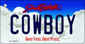 Cowboy South Dakota Background Metal Novelty Key Chain