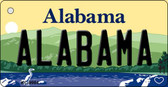 Alabama Alabama Background Metal Novelty Key Chain