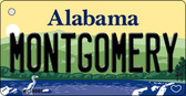 Montgomery Alabama Background Metal Novelty Key Chain