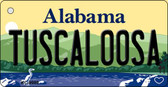 Tuscaloosa Alabama Background Metal Novelty Key Chain