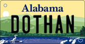 Dothan Alabama Background Metal Novelty Key Chain
