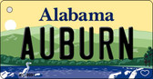 Auburn Alabama Background Metal Novelty Key Chain