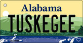 Tuskegee Alabama Background Metal Novelty Key Chain