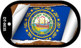 """New Hampshire State Flag Scroll Dog Tag Kit 2"""" Metal Novelty"""