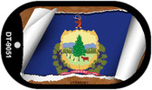 """Vermont State Flag Scroll Dog Tag Kit 2"""" Metal Novelty"""