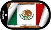 "Mexico Country Flag Scroll Dog Tag Kit 2"" Metal Novelty"