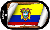 "Ecuador Country Flag Scroll Dog Tag Kit 2"" Metal Novelty"