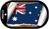 "Australia Country Flag Scroll Dog Tag Kit 2"" Metal Novelty"