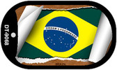 "Brazil Country Flag Scroll Dog Tag Kit 2"" Metal Novelty"