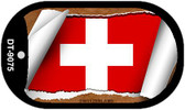 "Switzerland Country Flag Scroll Dog Tag Kit 2"" Metal Novelty"